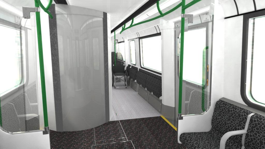 D Train interior - toilet