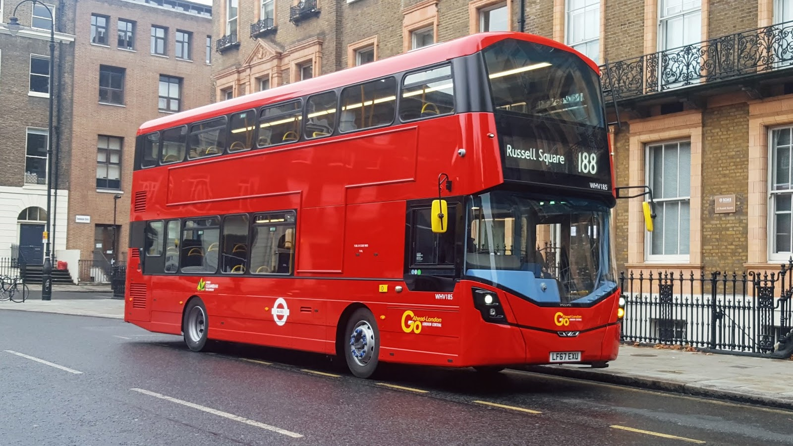 #AYearOfBuses 188: North Greenwich – Russell Square