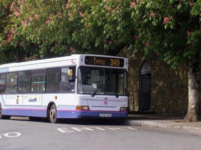 First Cymru bus 349