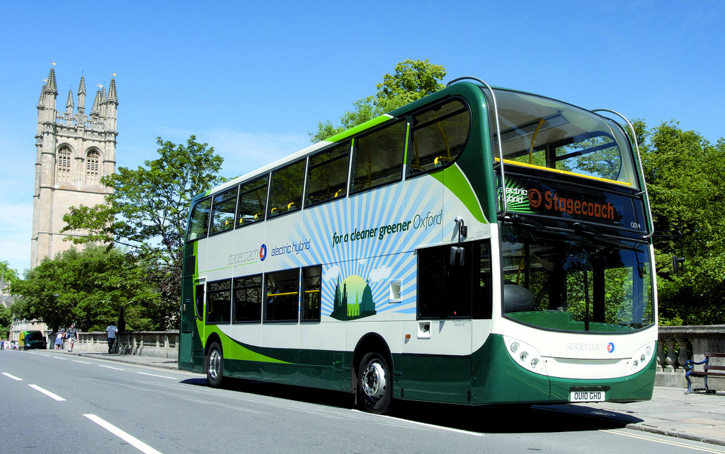Stagecoach 12014 (OU10 GHD), one of the company's first hybrid electrics placed in service in Oxford. Image credit: Stagecoach Group.