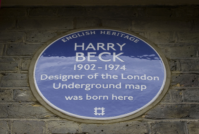 Harry Beck's blue plaque, revealed this week at his birthplace in Leyton, east London.