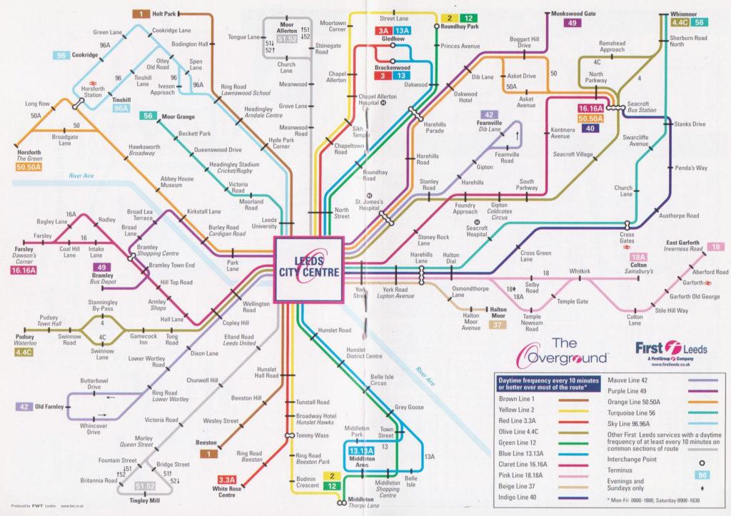 Overground map