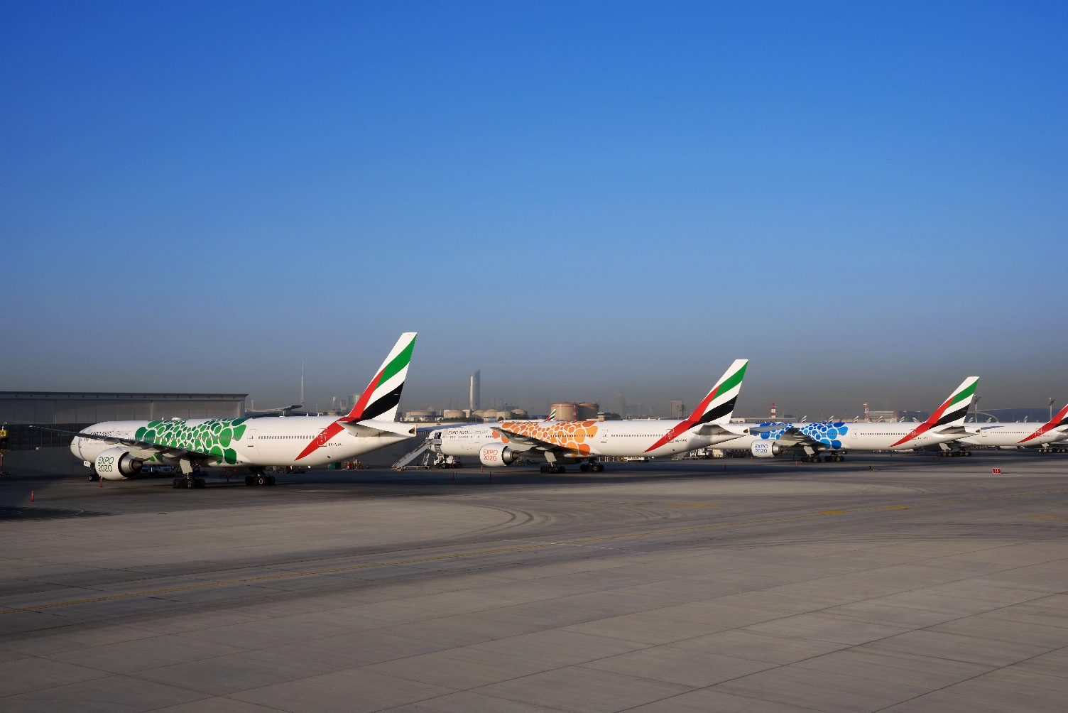 It took Emirates 15,000 hours to apply these vinyls to its fleet
