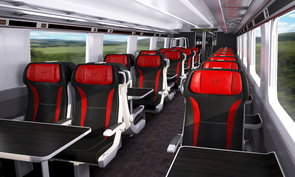 Artistic Impression of First Class in the Azuma.