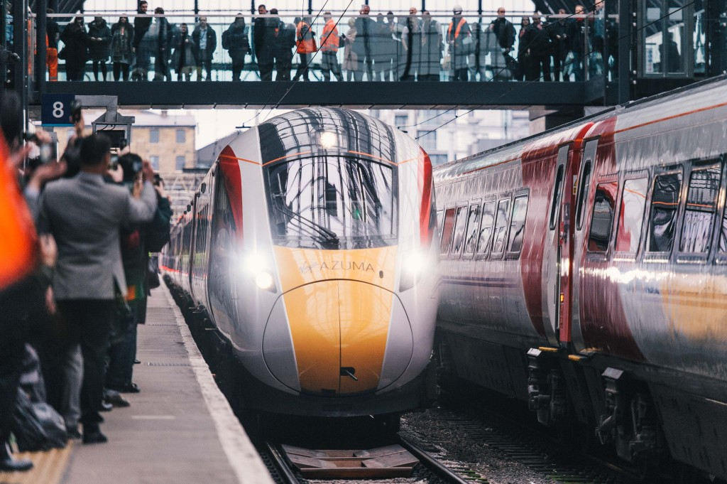 The Virgin Azuma at King's Cross.