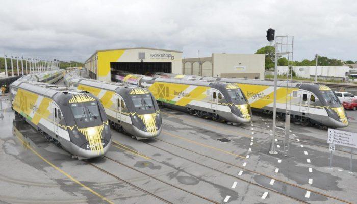 Four Brightline trains
