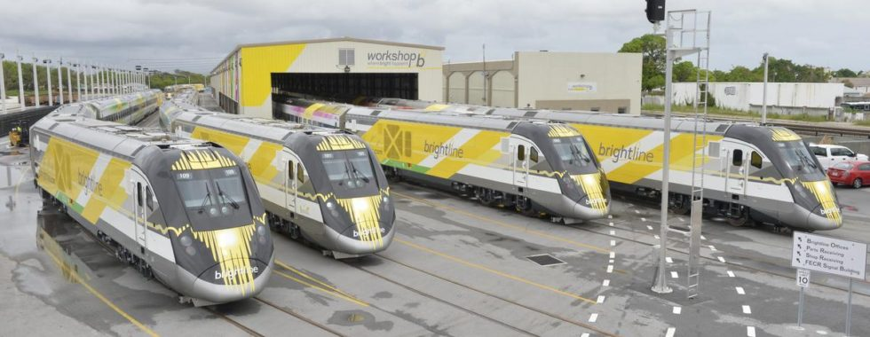 Four Brightline trains