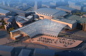 Aerial view of the revamped Manchester Victoria. Credit: Network Rail.
