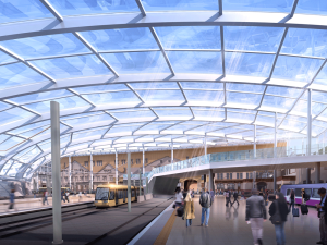 Artists impression of the revamped Manchester Victoria. Credit: Network Rail.
