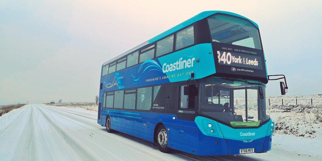 Coastliner in snow