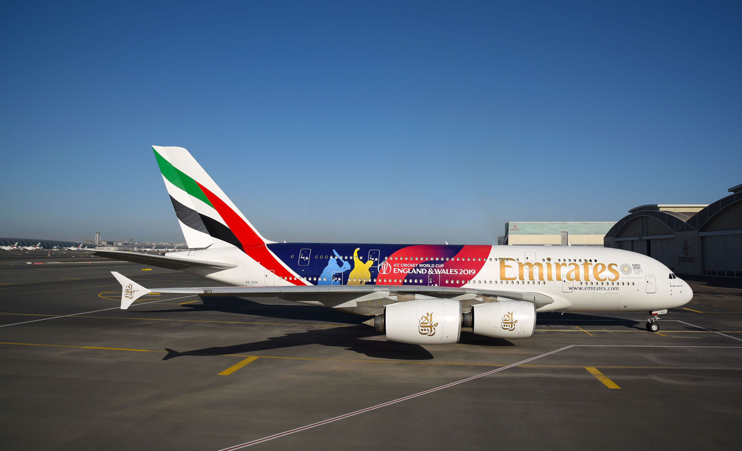 Cricket fever builds as Emirates reveals ICC Cricket World Cup-liveried A380