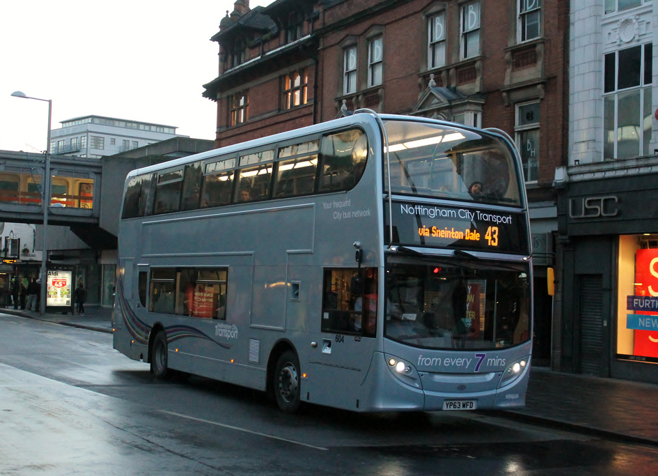 NCT Scania N230UD/Enviro400 604 (YP63 WFD). Image credit: BMB15 on Flickr.