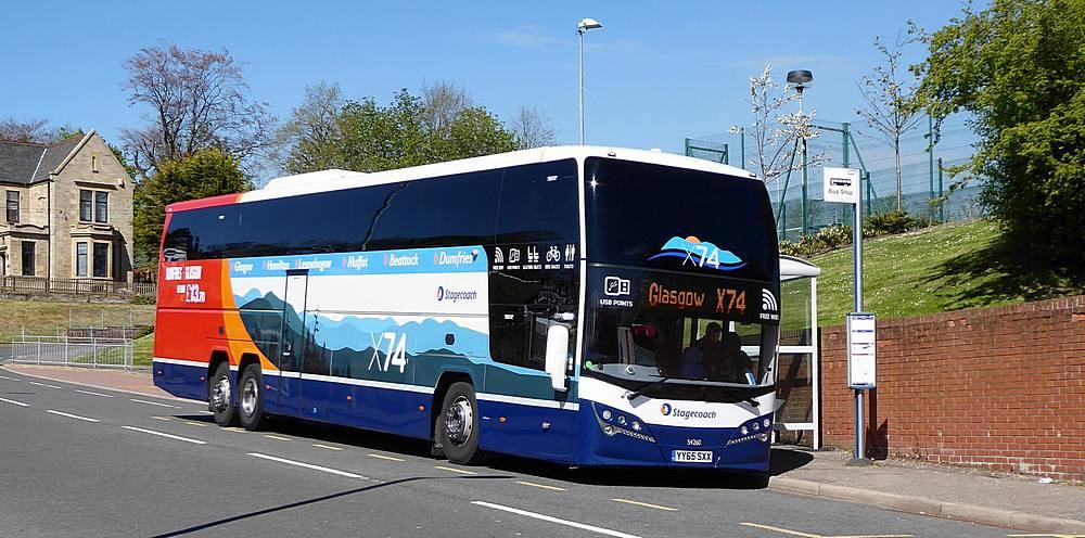 #AYearOfBuses 74: X74 Glasgow – Dumfries