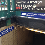 36 stations across the New York city subway system gained free wifi in 2013. Image credit: anthonymobile on Flickr.