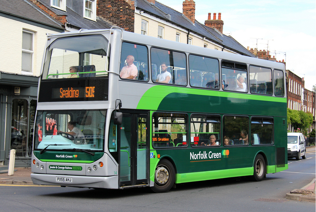 Stagecoach goes (Norfolk) Green