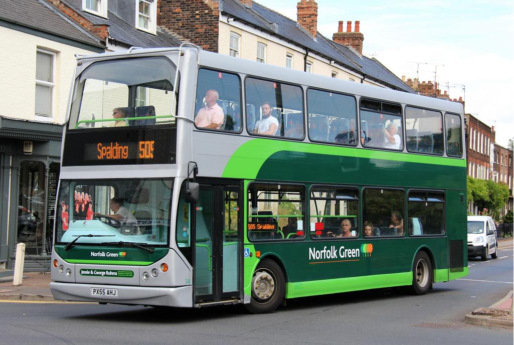 Stagecoach goes (Norfolk) Green