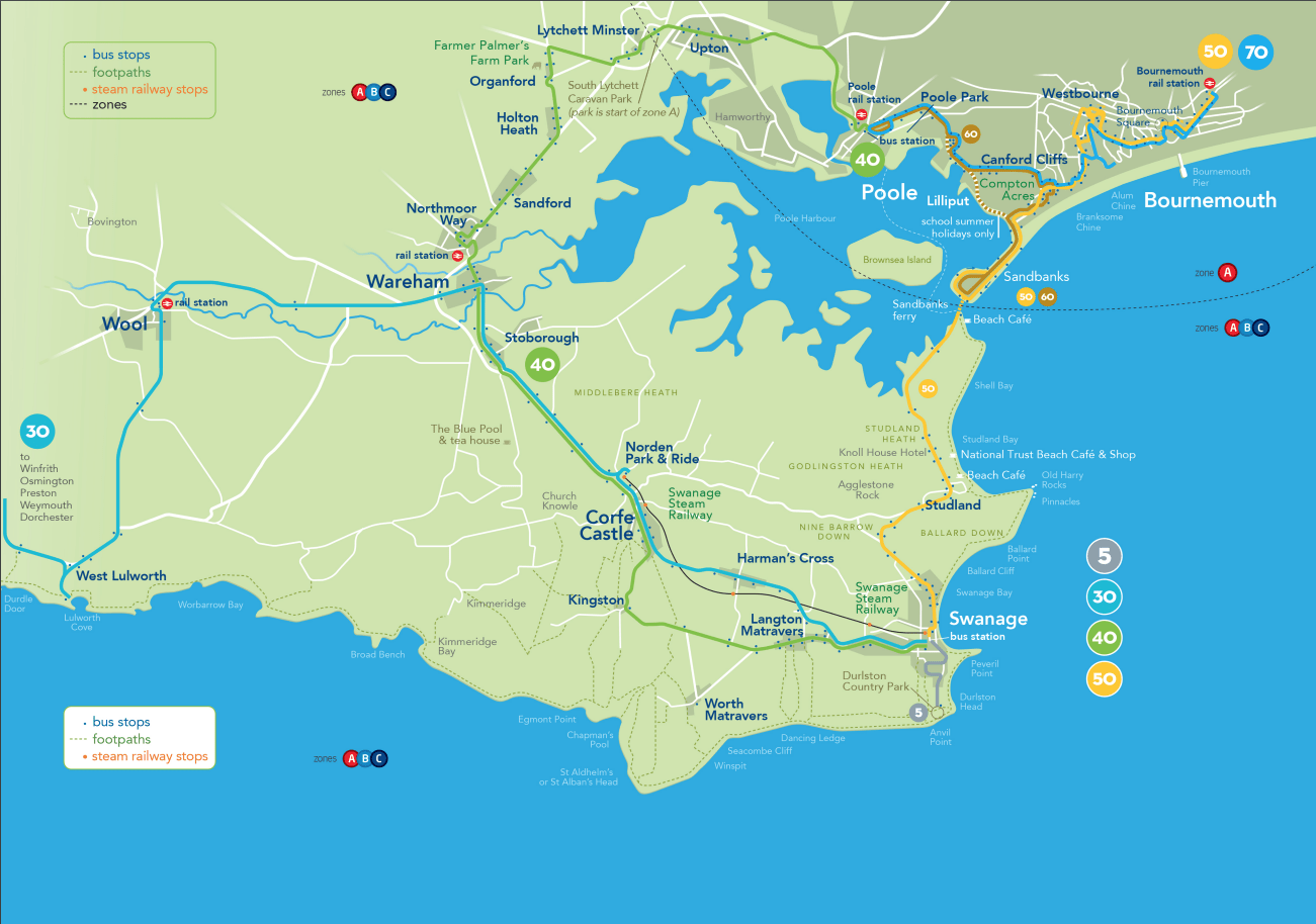 Purbeck Breezer map