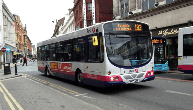 Manchester bus 182
