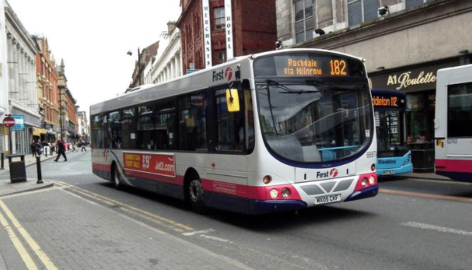 Manchester bus 182