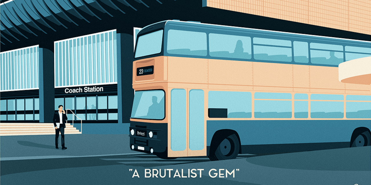 Preston's iconic bus station is brought to life in these stunning illustrations