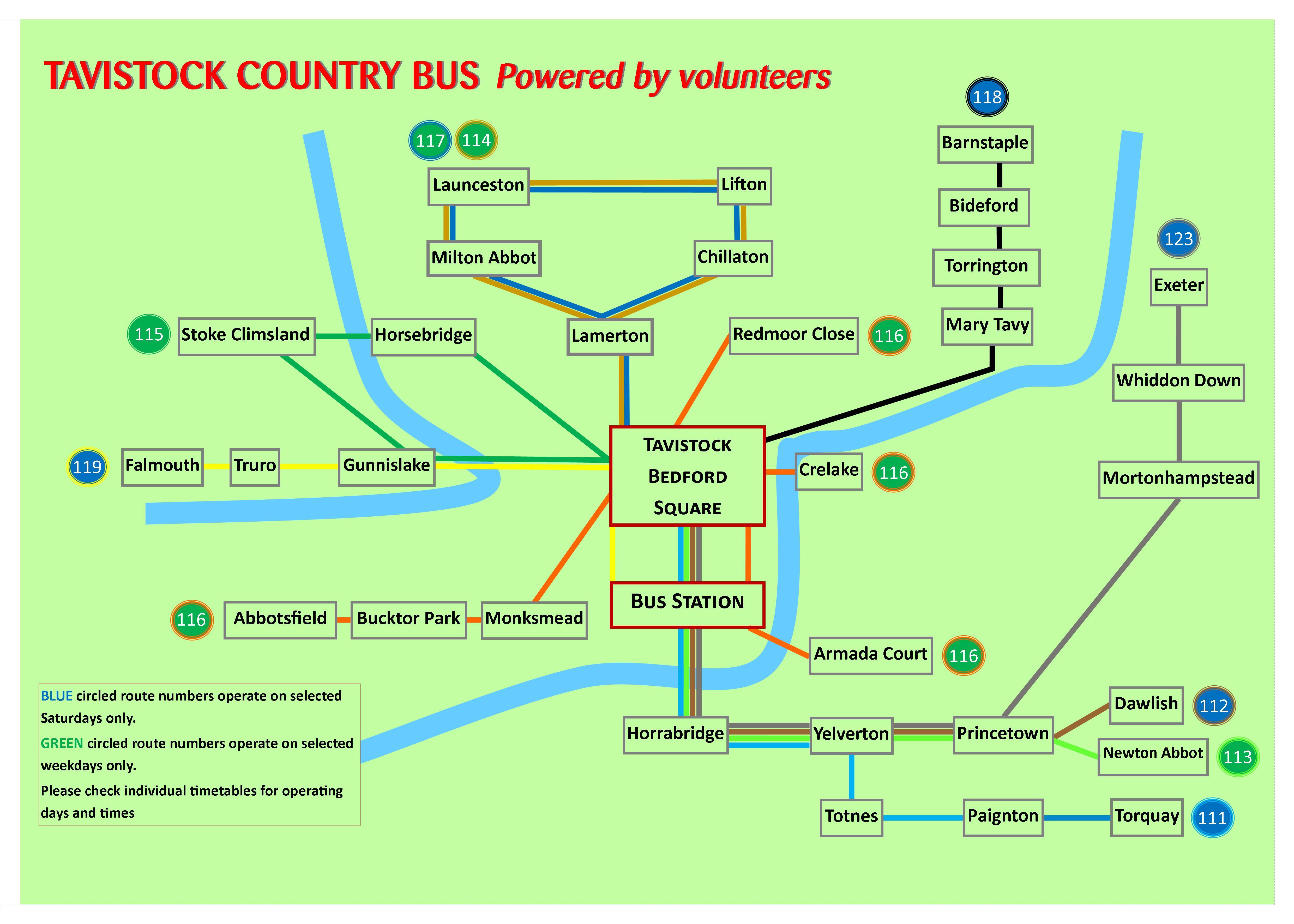 Tavistock network map