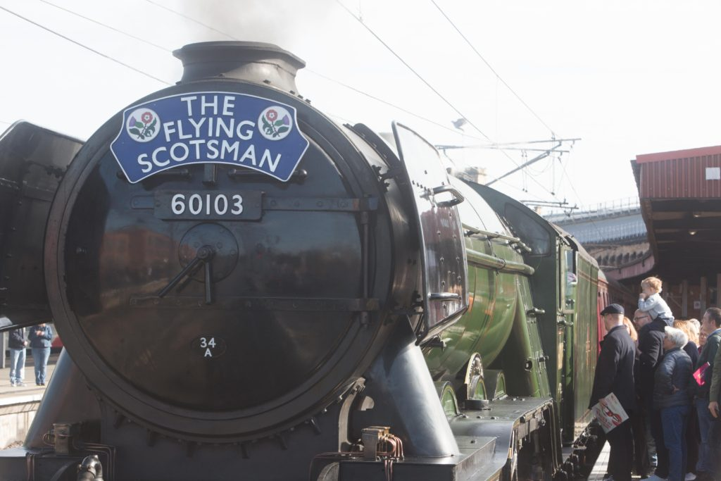 Flying Scotsman at York station