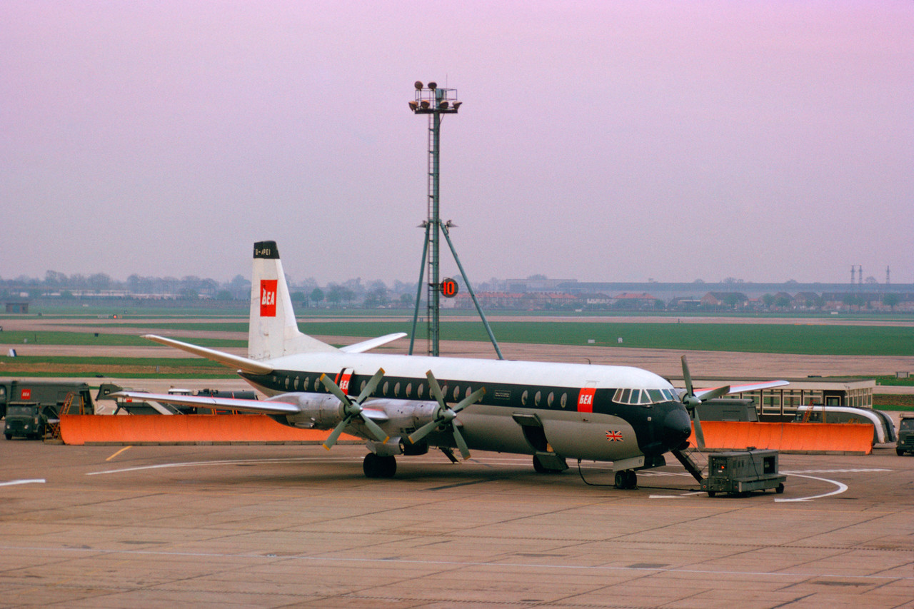 BEA Vanguard aircraft painted in the original livery in 1962