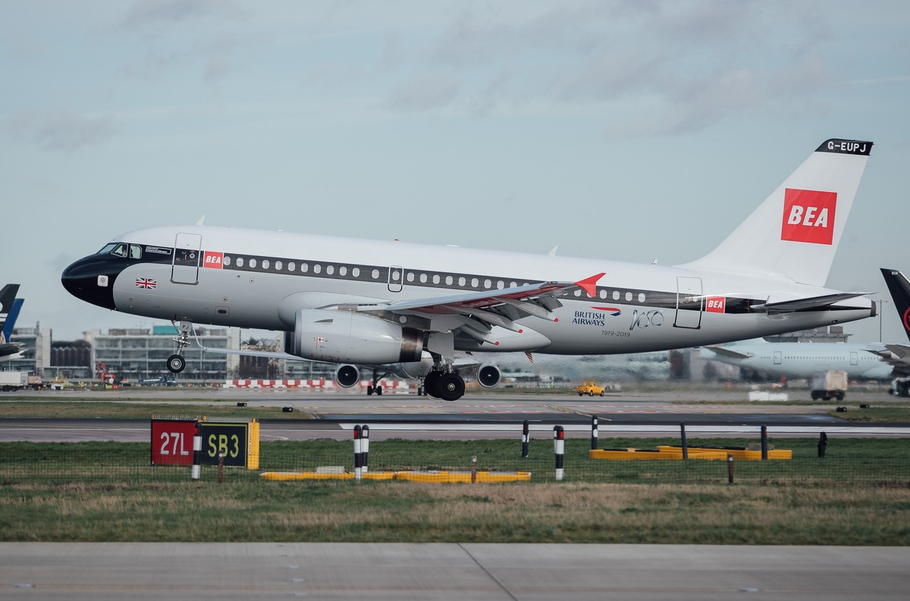 Stunning BEA-liveried A319 takes to the skies