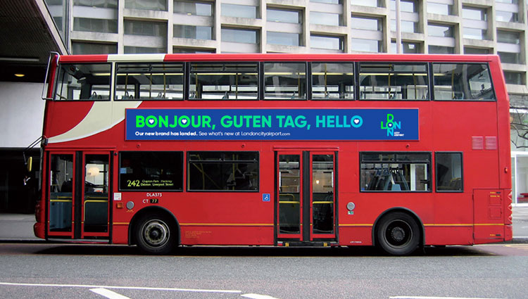 London City bus ad