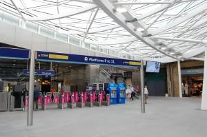 Platforms 9 - 11 at King's Cross