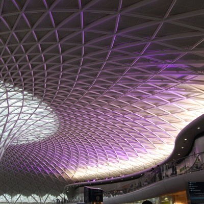 The stunning new roof at King's Cross.