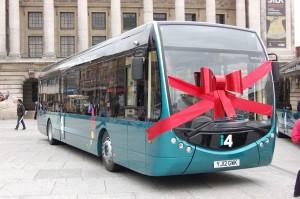 i4 bus on Old Market Square, Nottingham