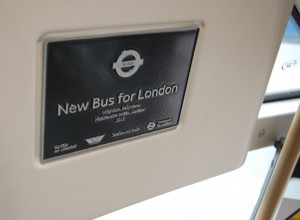New bus for London plaque