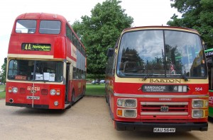 Two former Trent and Barton vehicles on route 4