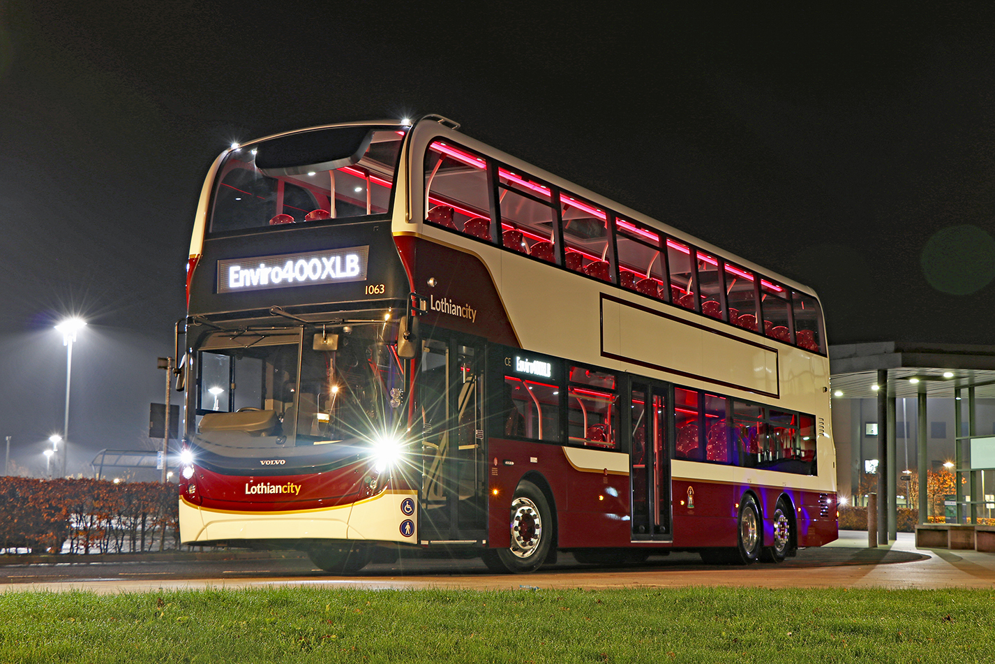 Alexander Dennis and Lothian unveil 100-seat monster bus