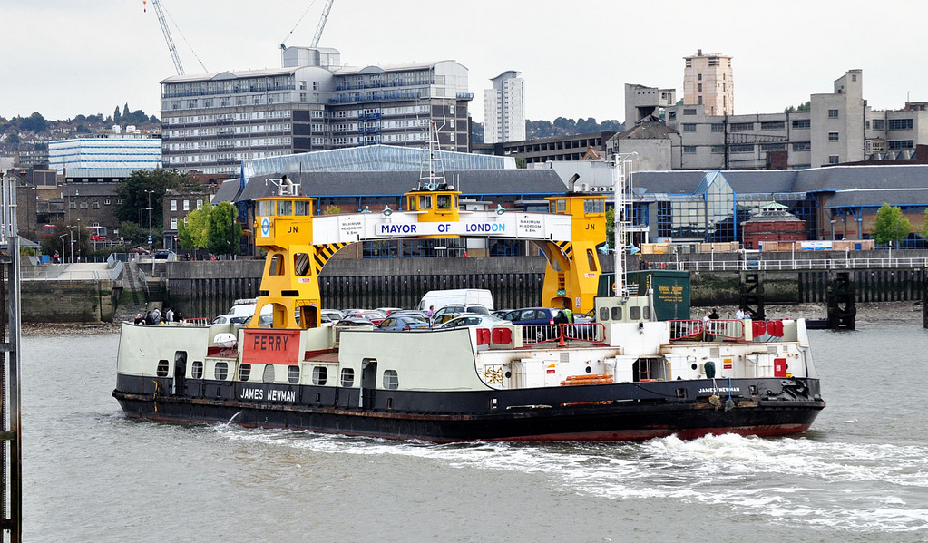 Woolwich Ferry 'James Newman' in service.