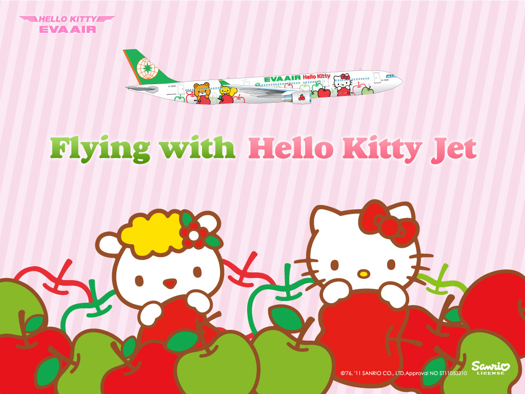 A special Hello Kitty wallpaper...
