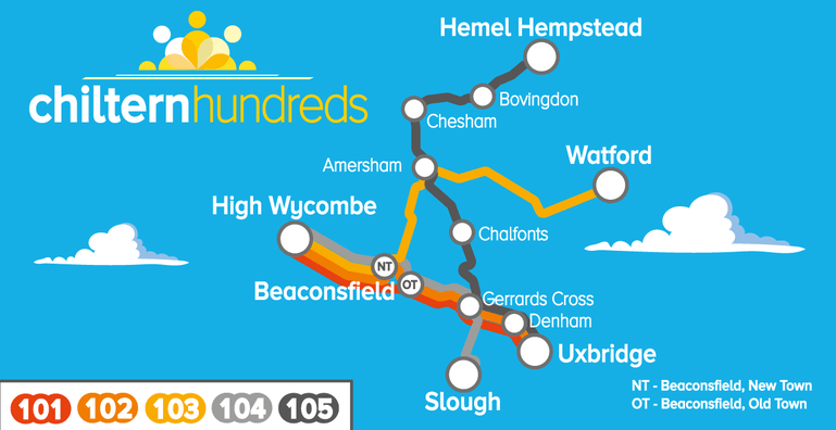 Chiltern Hundreds map