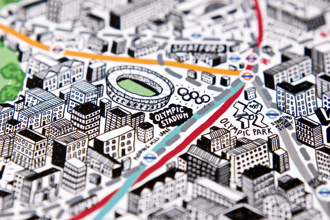 Check out these hand drawn maps of London by illustrator Jenni Sparks