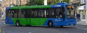 Nottingham City Transport 389 (YX63 GXT) Enviro 200 branded for NCT Network Blue. Image credit: NCTFleetlist on Flickr.