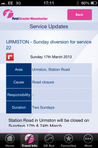 First bus diversions