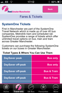 Manchester has a mass of options when it comes to ticketing - First's app does well to explain S1.