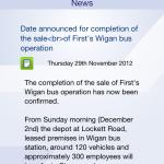 First bus news