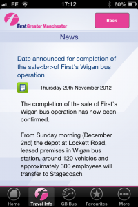 First bus news