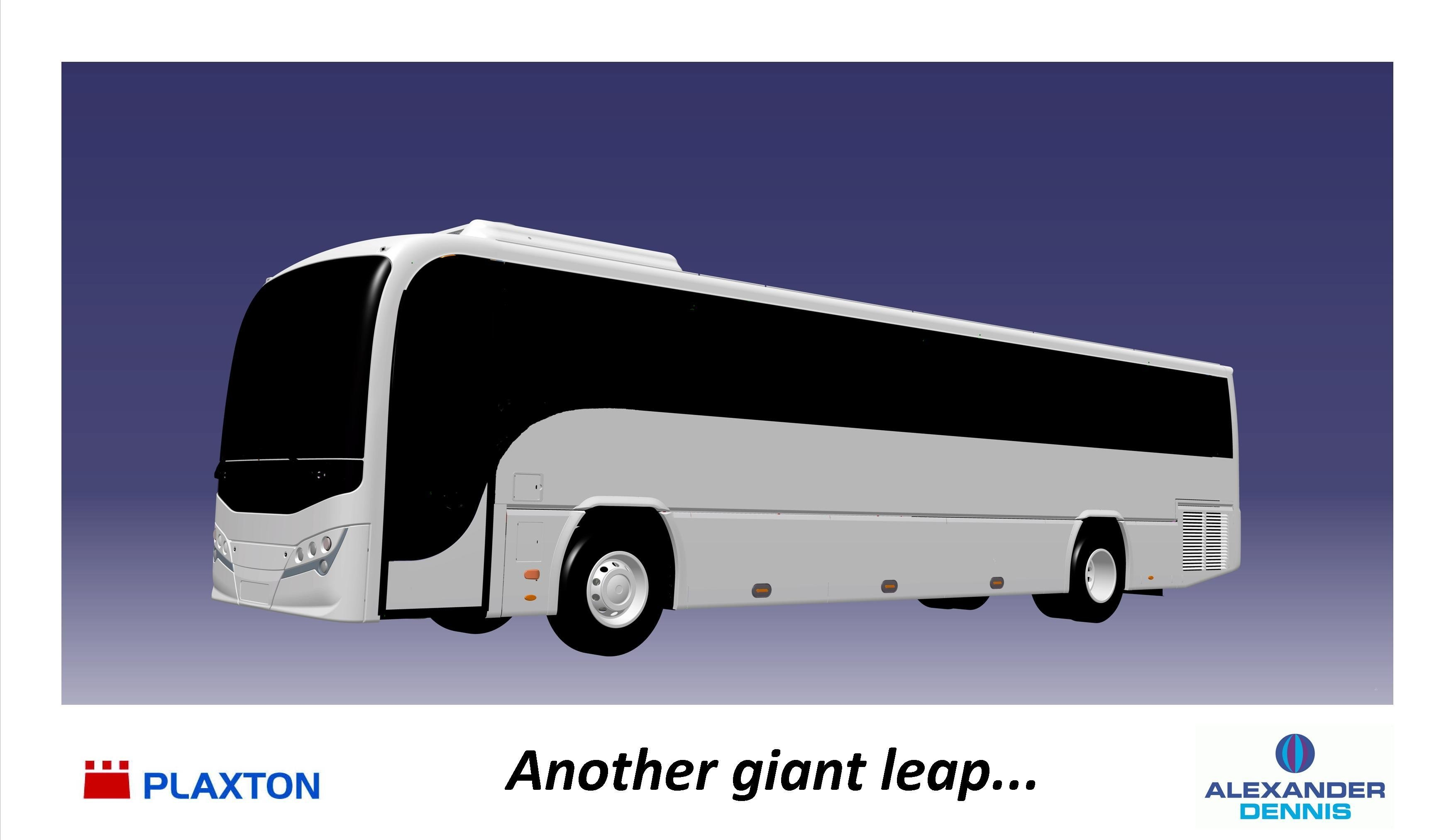 Plaxton's Profile successor - as yet unnamed - will be offered on Volvo B9R and B8R chassis. Image credit: Plaxton ltd.