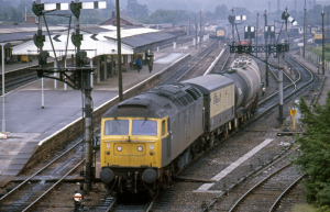 How it all began - Railfreight 47113 at Westbury in 1982. Sectorisation later paved the way for the privatisation of British Rail in 1994.
