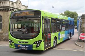 Go-Whippet BF63 HFB on Busway route C. Image credit: DavidsTransportPix on Flickr.