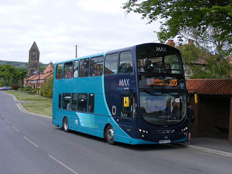 #AYearOfBuses 93: MAX Middlesbrough – Whitby – Scarborough