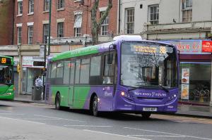 ADL Enviro 200 373 (YX13 AEP), branded for Nottingham Network service 87/88.